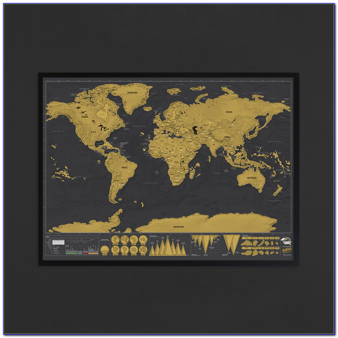 Scratch Map Deluxe Frame