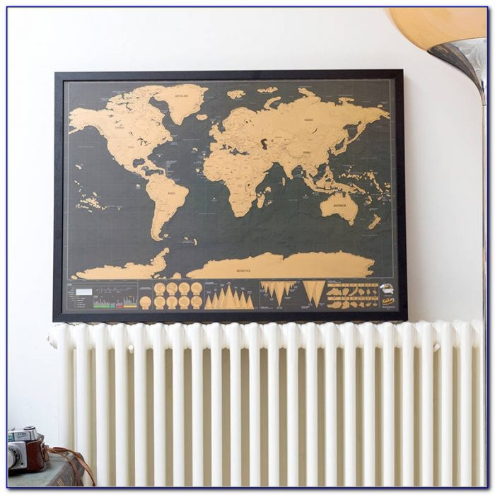 Scratch Map Frame Uk