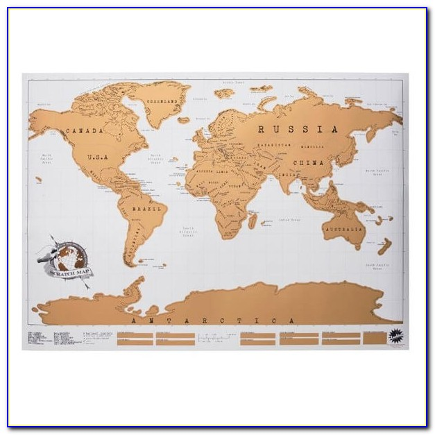 Scratch Map Original Personalised World Map By Luckies