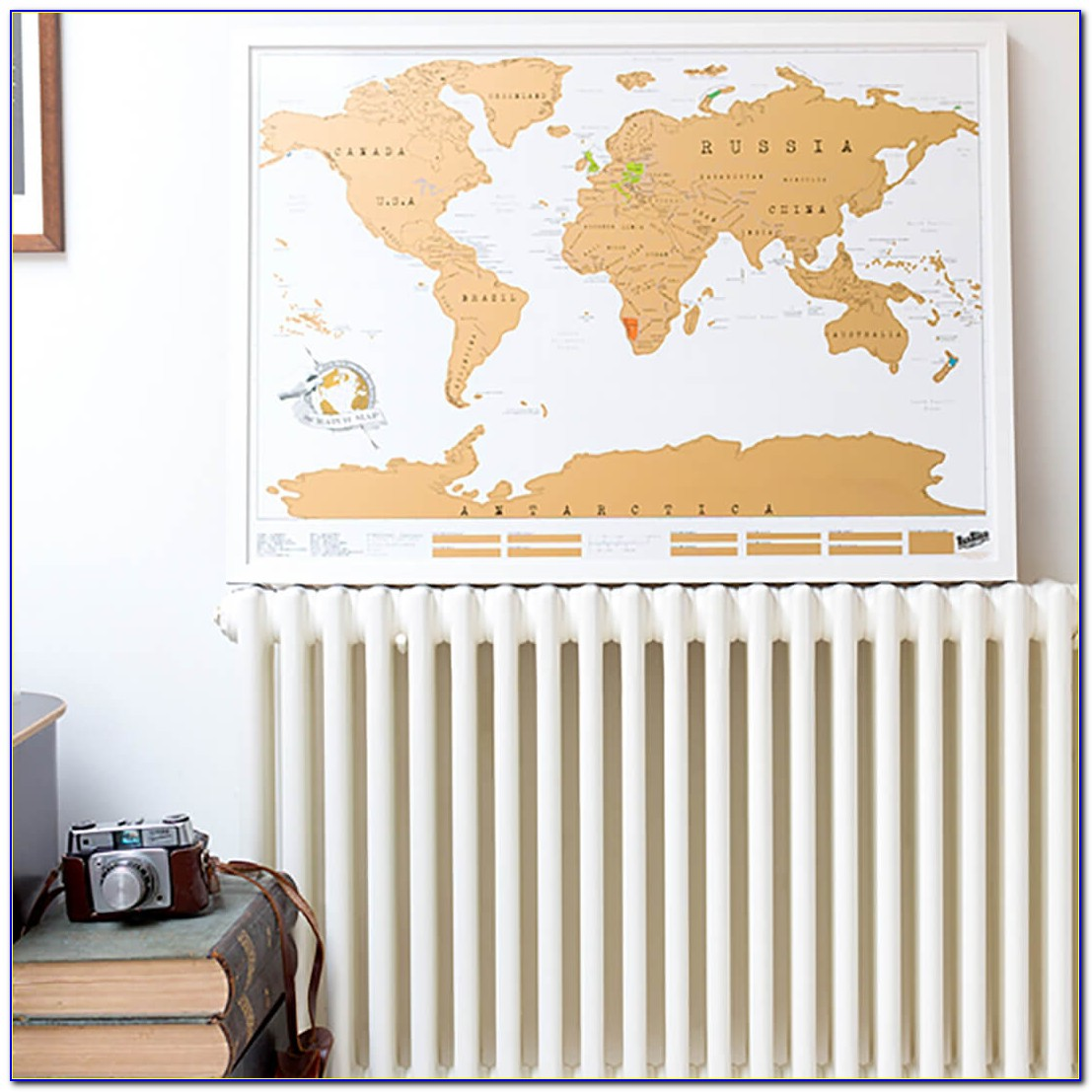 Scratch Map Picture Frame