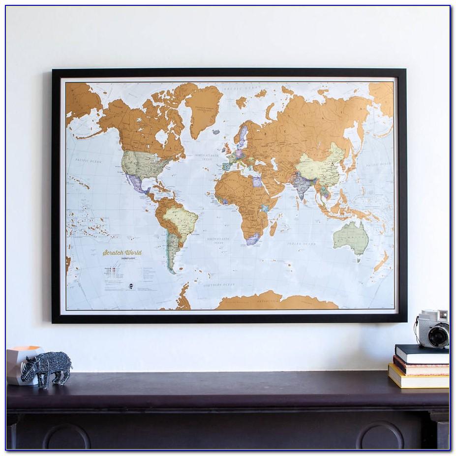 Scratch Off Map Frame