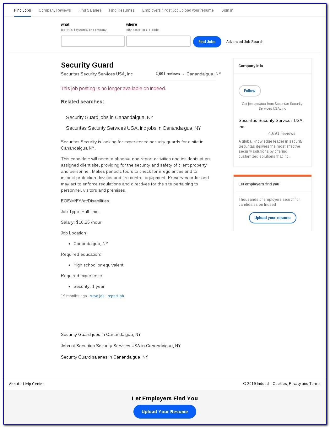 Securitas Security Employment Application