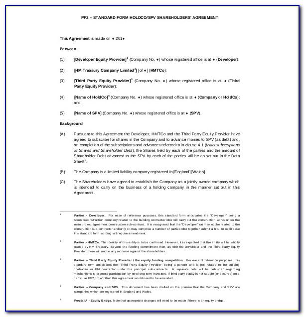 Shareholders Agreement Long Form