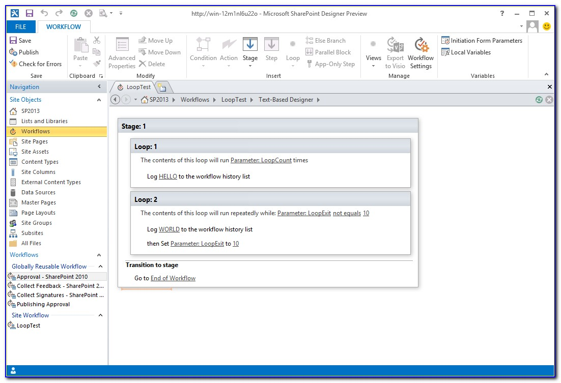 Sharepoint 2013 Workflow Initiation Form