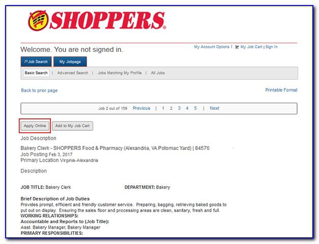 Shoppers Drug Mart Job Application Online
