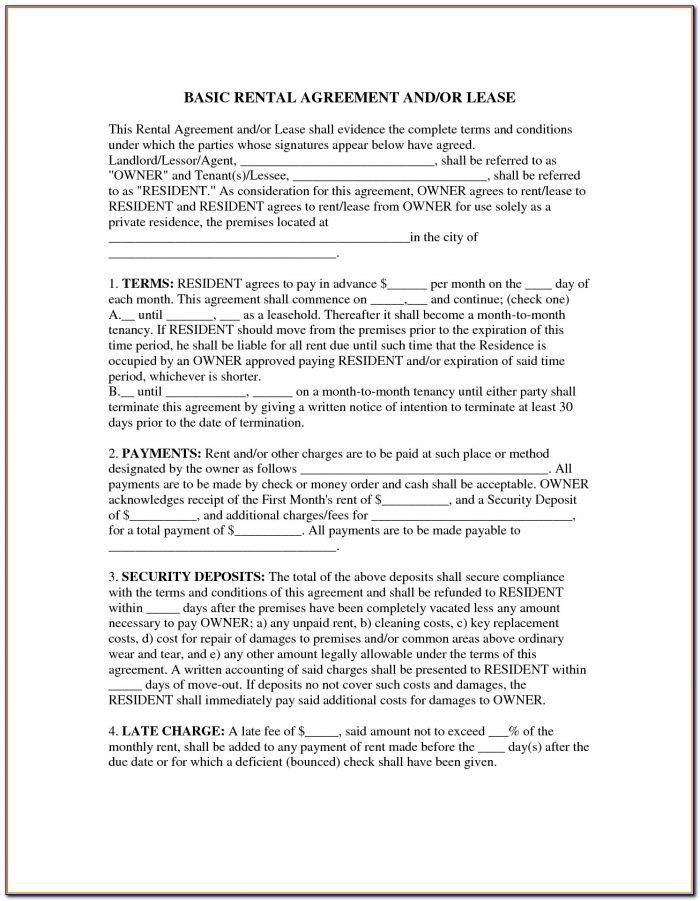 Simple Rental Lease Agreements
