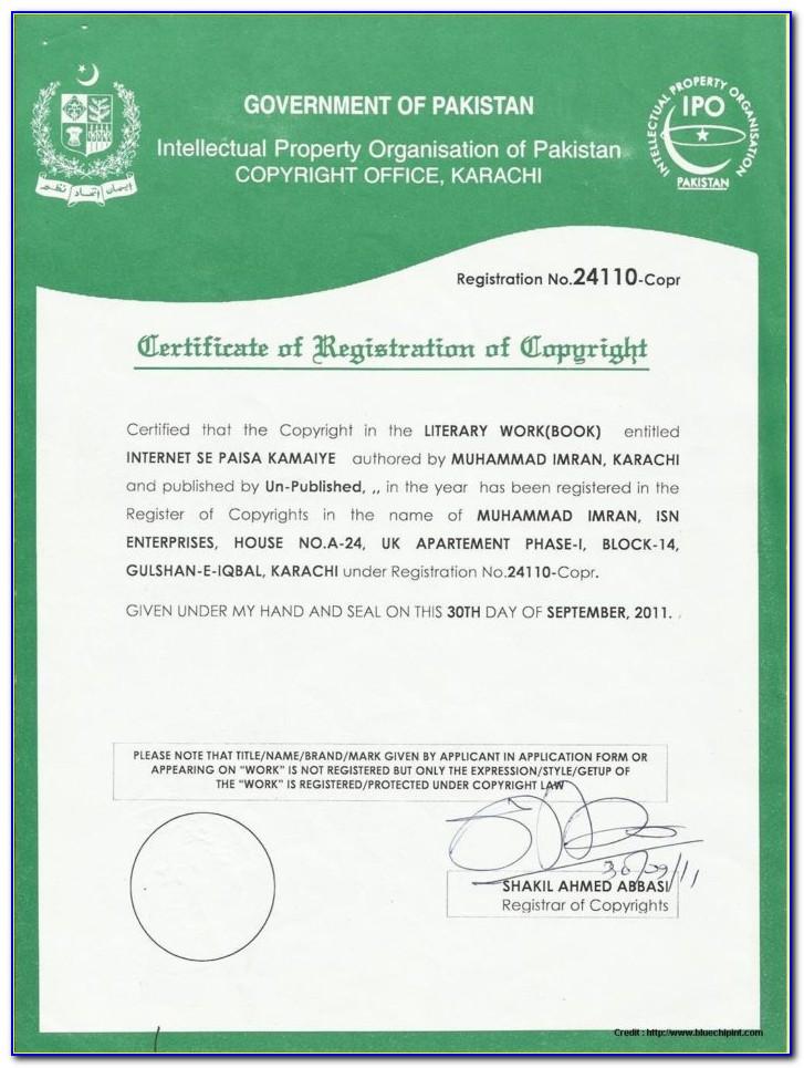 Sole Proprietorship Registration Form Pdf India