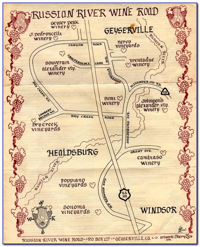 Sonoma County Wine Ava Map