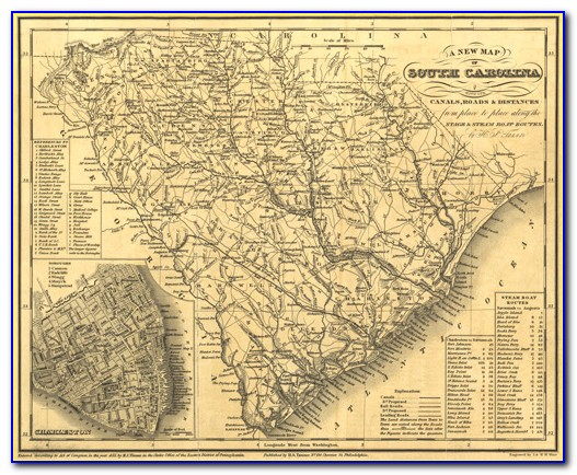 South Carolina Historical Sites Map