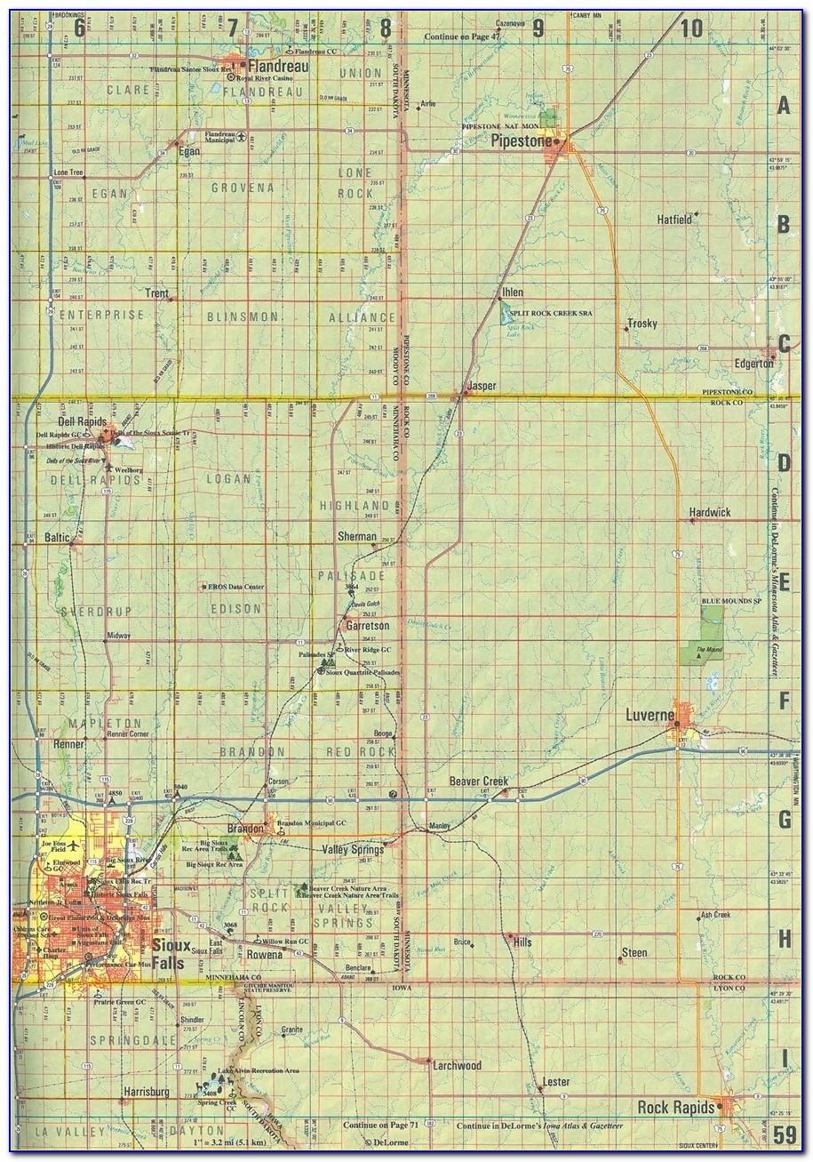 South Dakota Atlas Map