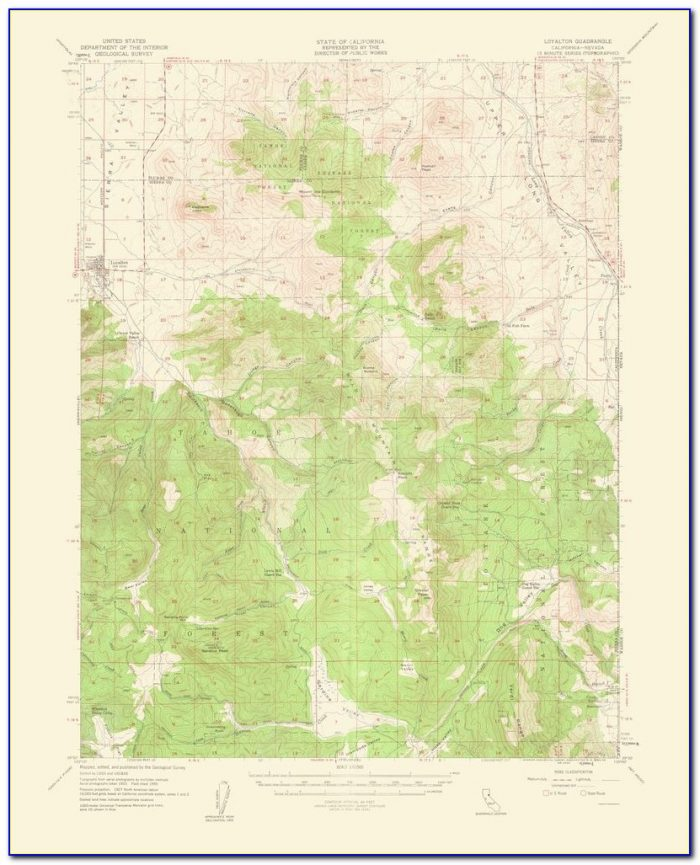 Southern Nevada Topographic Map