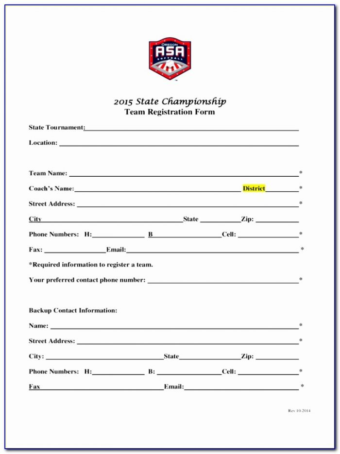 Team Registration Form 2 Free Templates In Pdf Word Free Sports Team Registration Form Template Elegant Pdf Word Excel Template Yeuea
