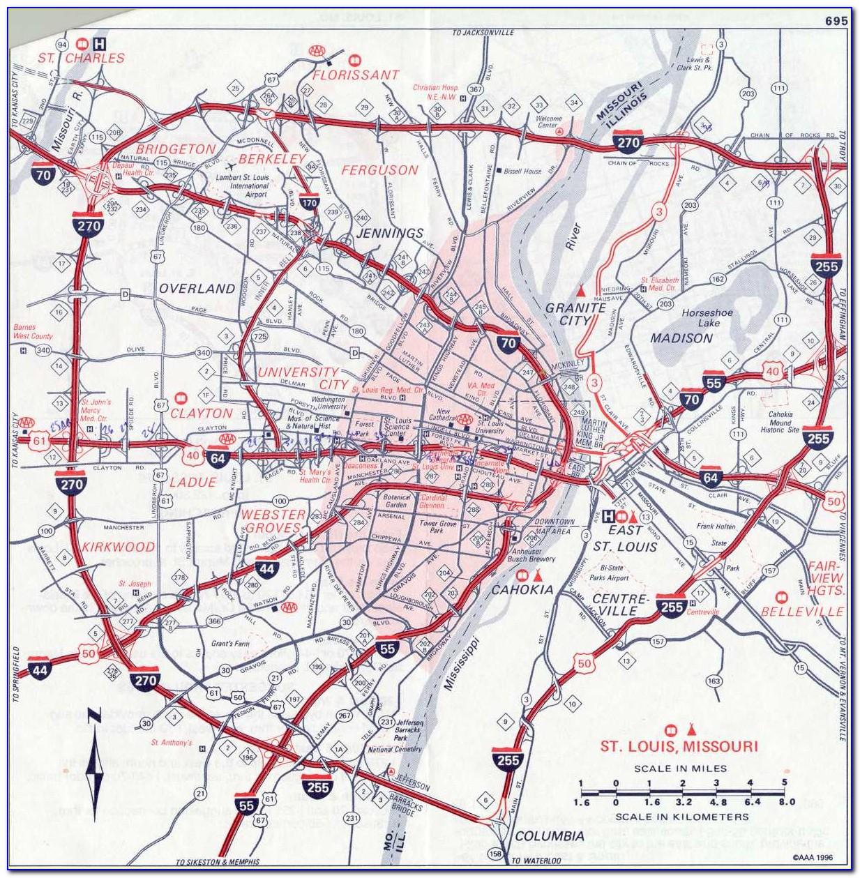 St. Louis Park Street Map