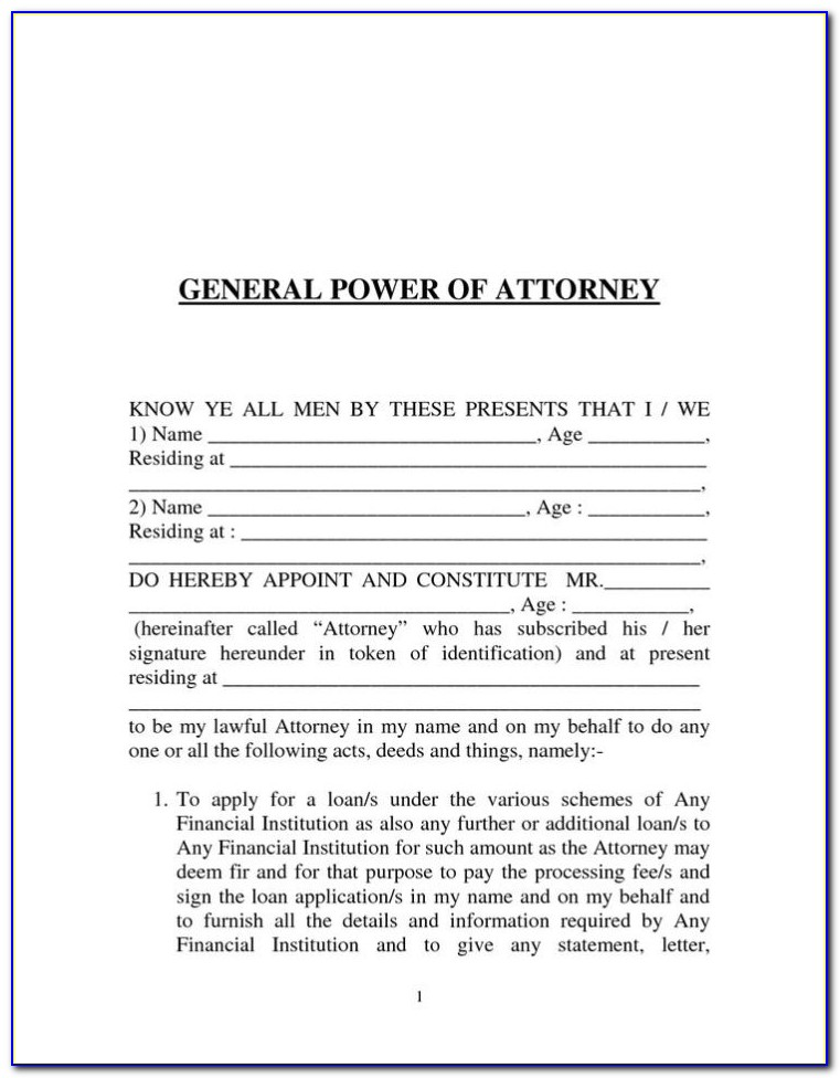 Standard Power Of Attorney Form Ontario