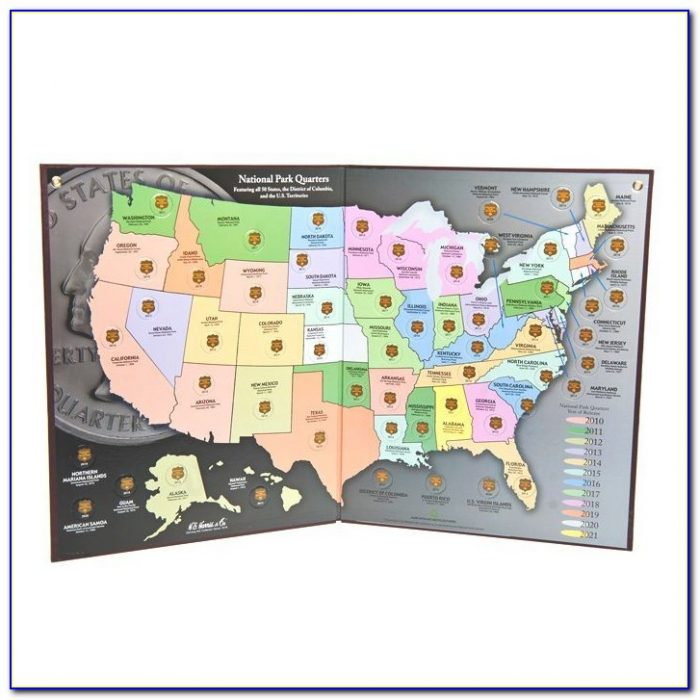 State Quarters Collector's Map Folder