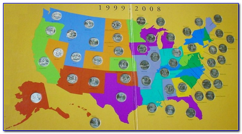State Quarters Collector's Map