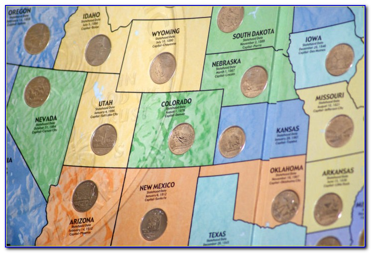 State Quarters Map Holders