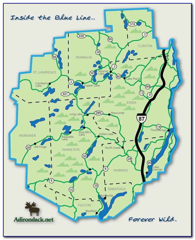 Stoddard Map Of The Adirondacks