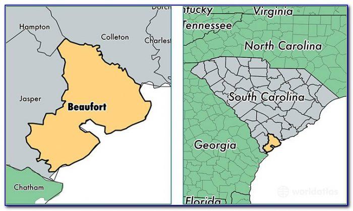 Street Map Of Beaufort Sc