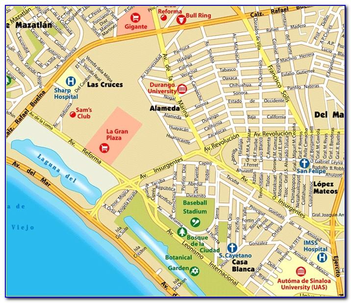Street Map Of Mazatlan Mexico