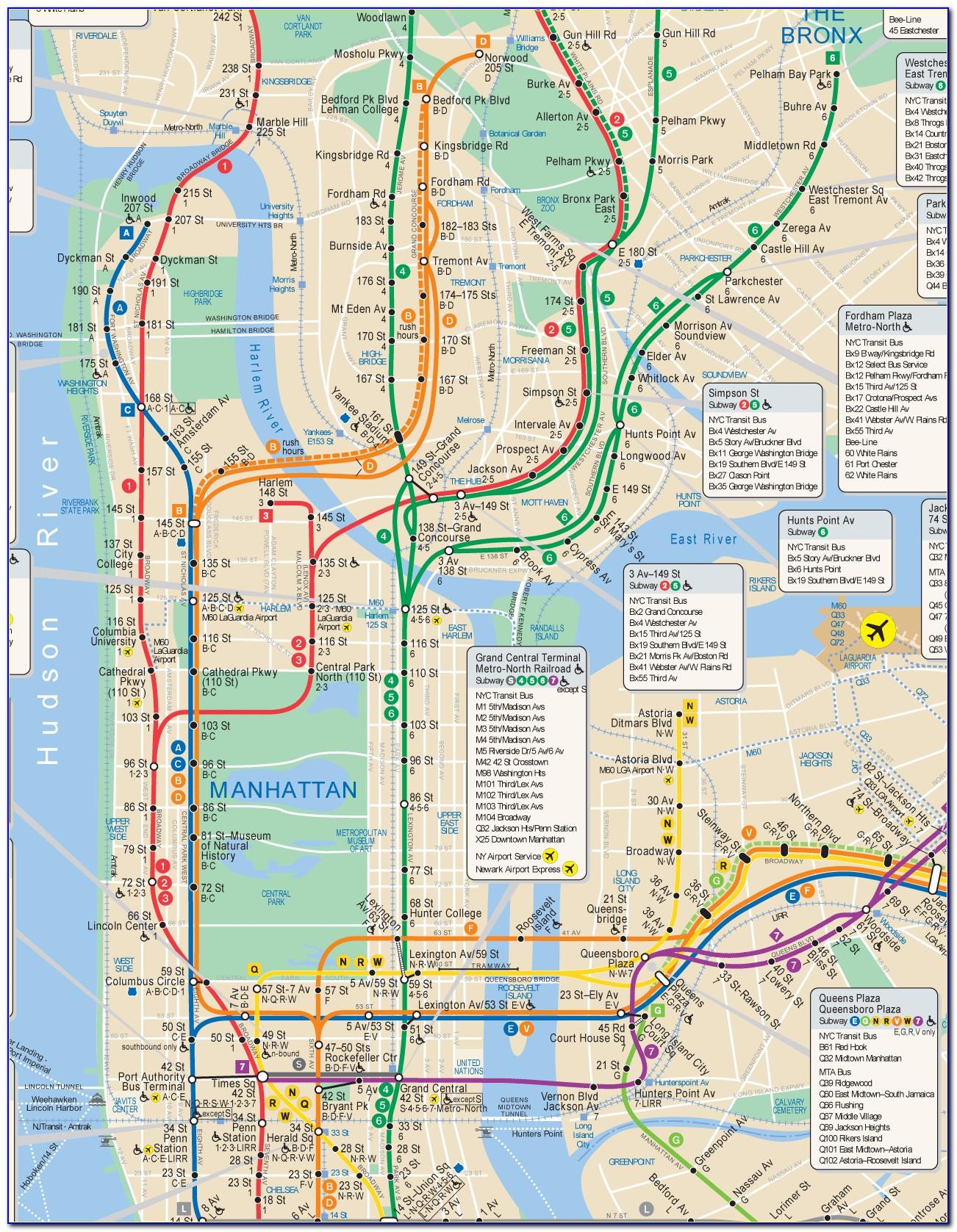 Subway Map Nyc Download