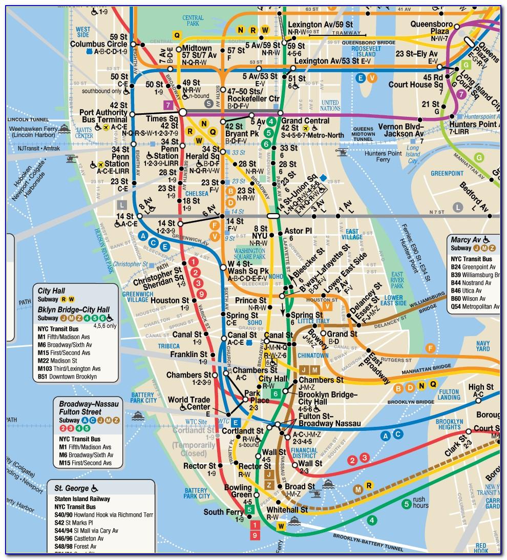 Subway Map Nyc Pdf