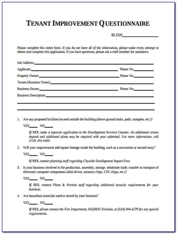 Tenant Pre Screening Form Pdf