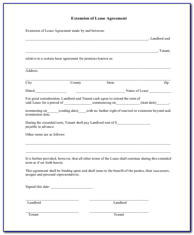 Texas Association Of Realtors Residential Lease Extension Form