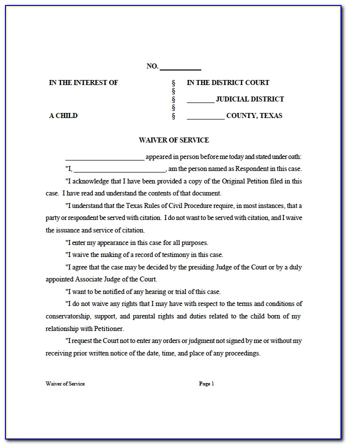 Texas Petition For Divorce Form
