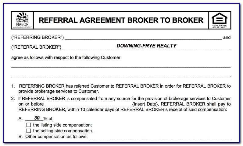 Texas Real Estate Referral Fee Form
