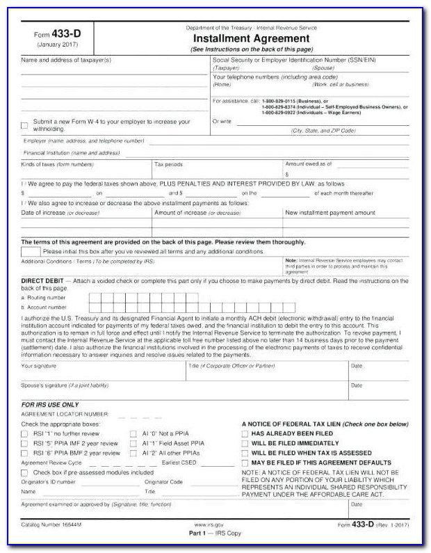 Texas Retail Installment Contract Form