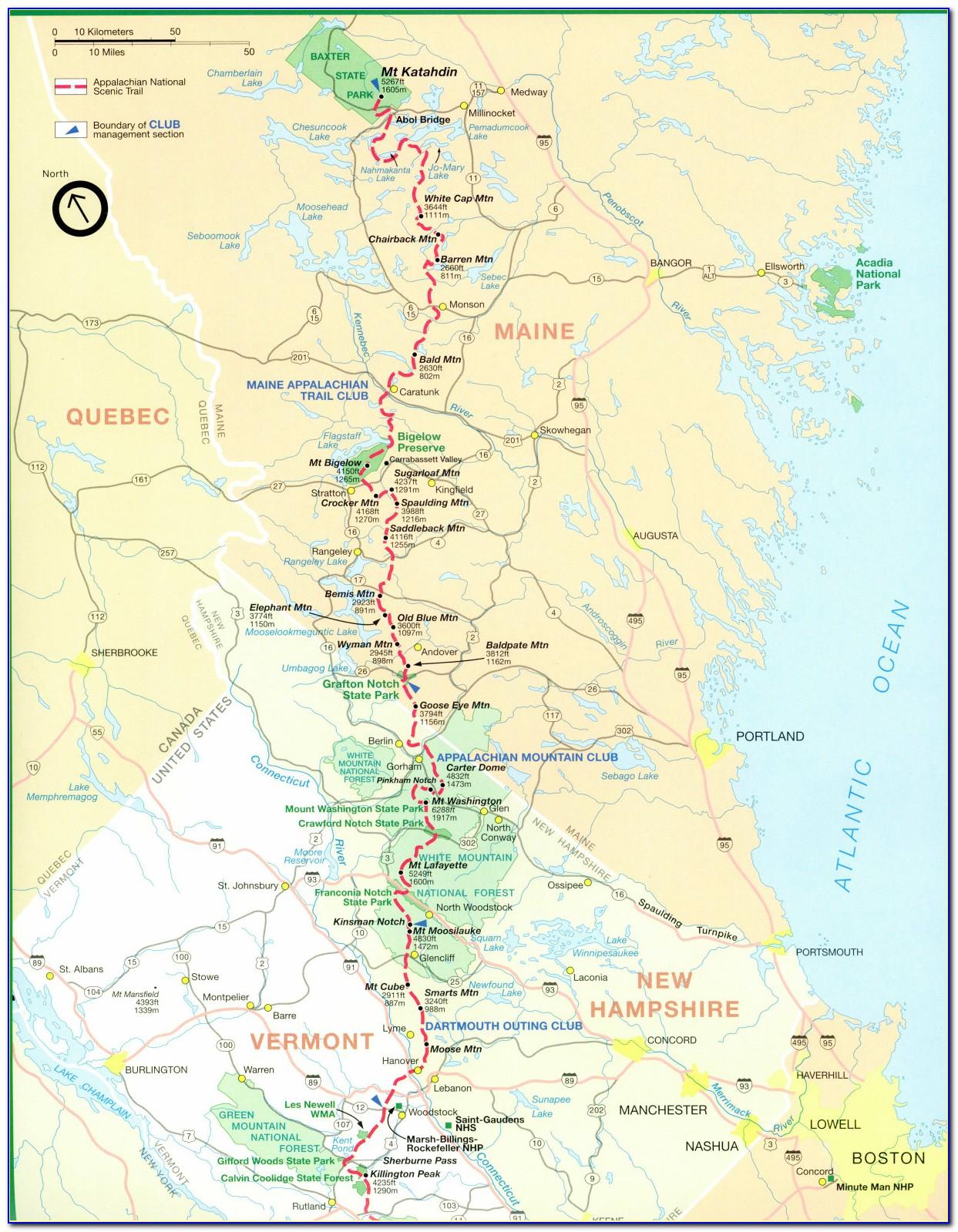 The Appalachian Trail Map