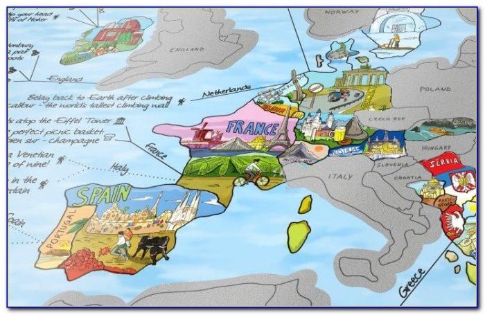 The Travel Minder World Scratch Map