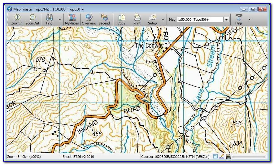 Topo Map Nz Key