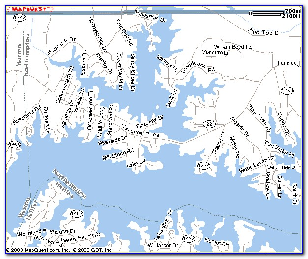Topo Map Of Lake Gaston Nc