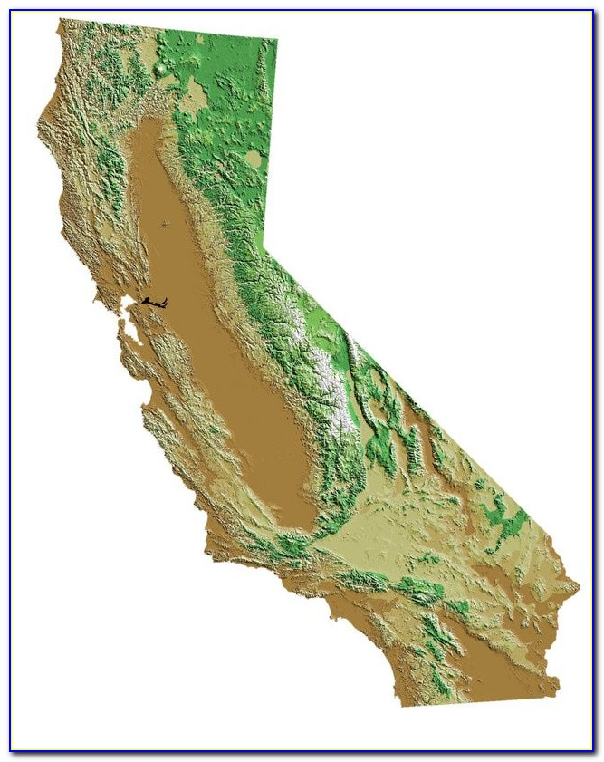 Topo Map Of Northern California