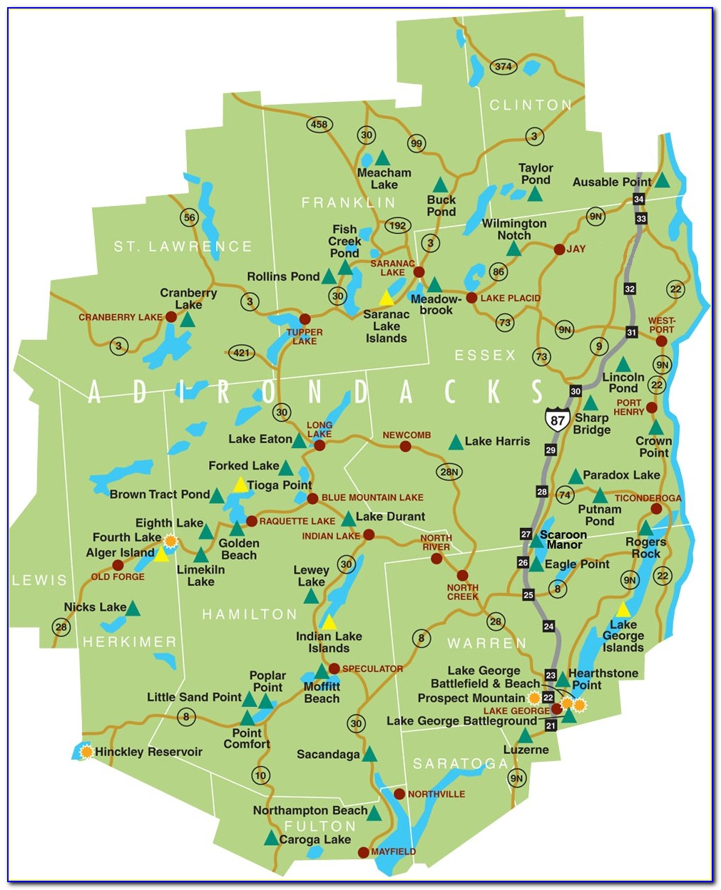 Topo Maps Of The Adirondacks