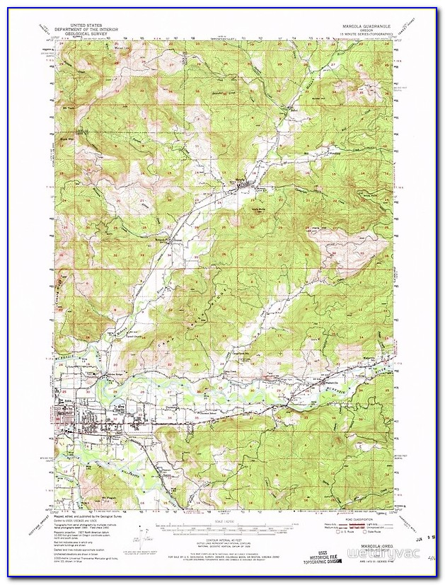 Topographic Map Of Bend Oregon