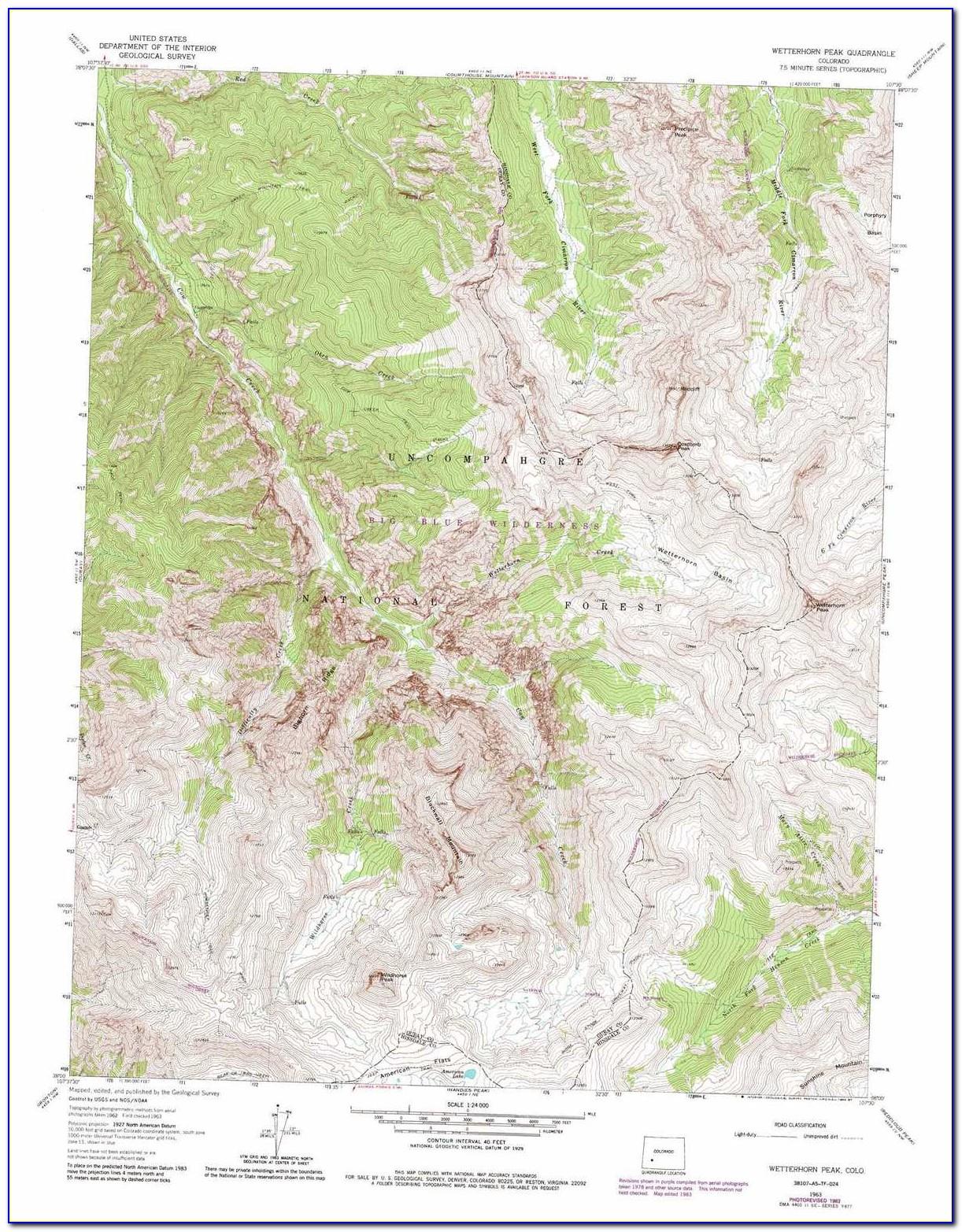 Topographic Map Of Colorado River