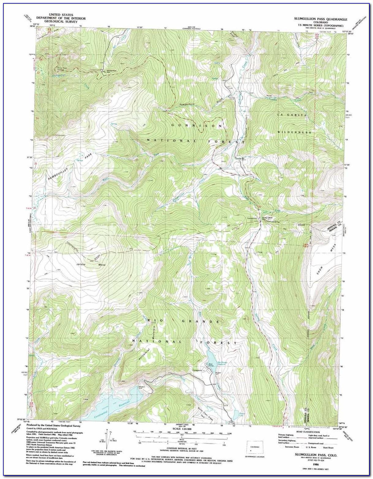 Topographic Map Of Denver Colorado