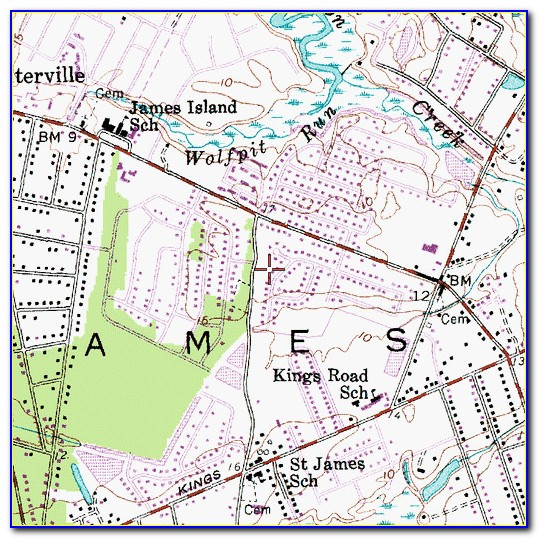 Topographic Map Of James Island Sc