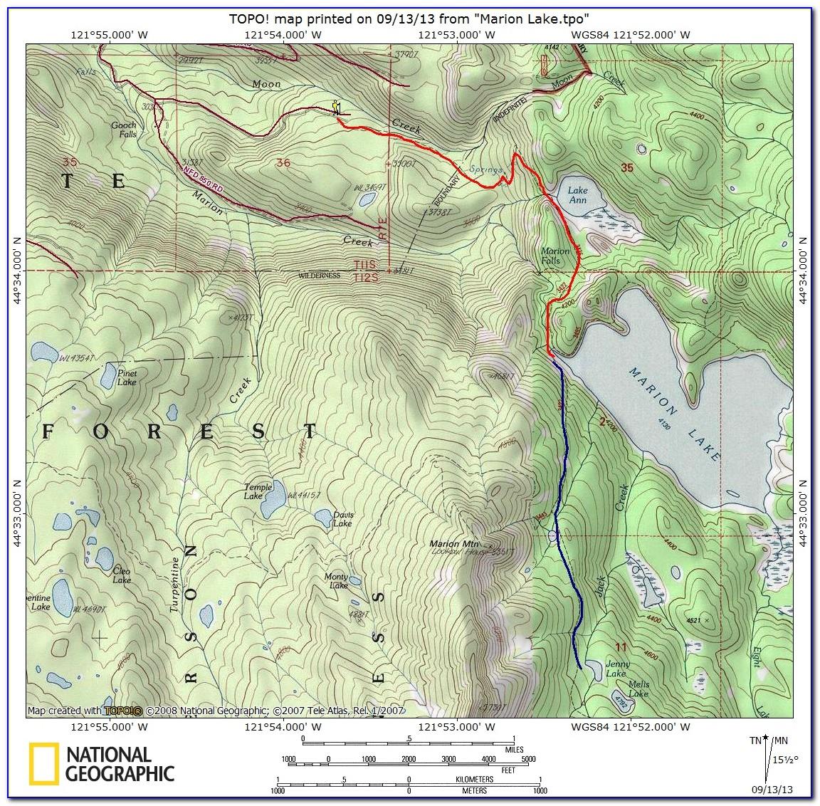 Topographic Map Of Oregon City