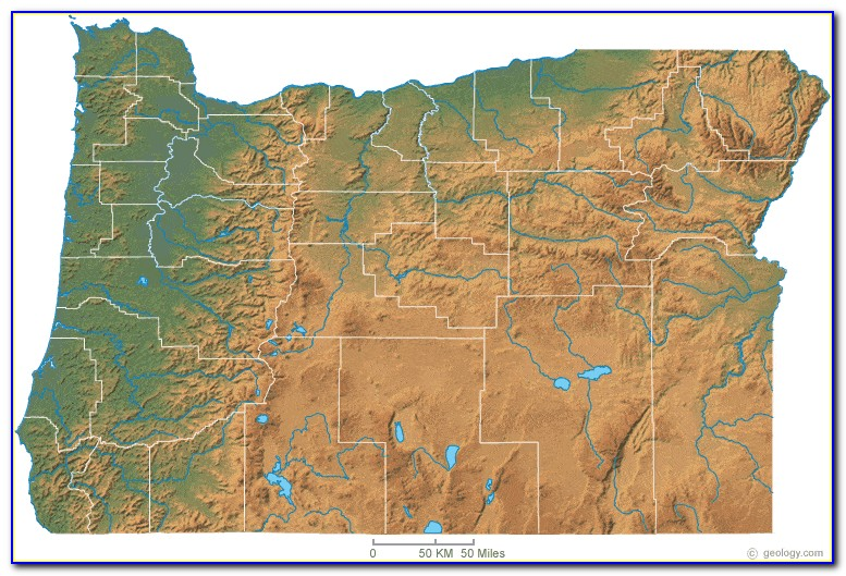 Topographic Map Of Oregon Coast