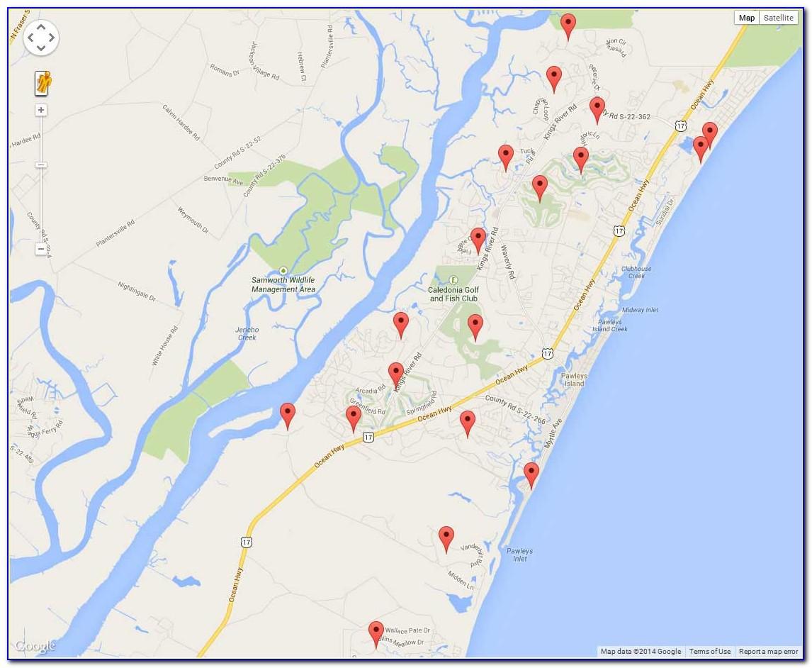 Topographic Map Of Pawleys Island Sc