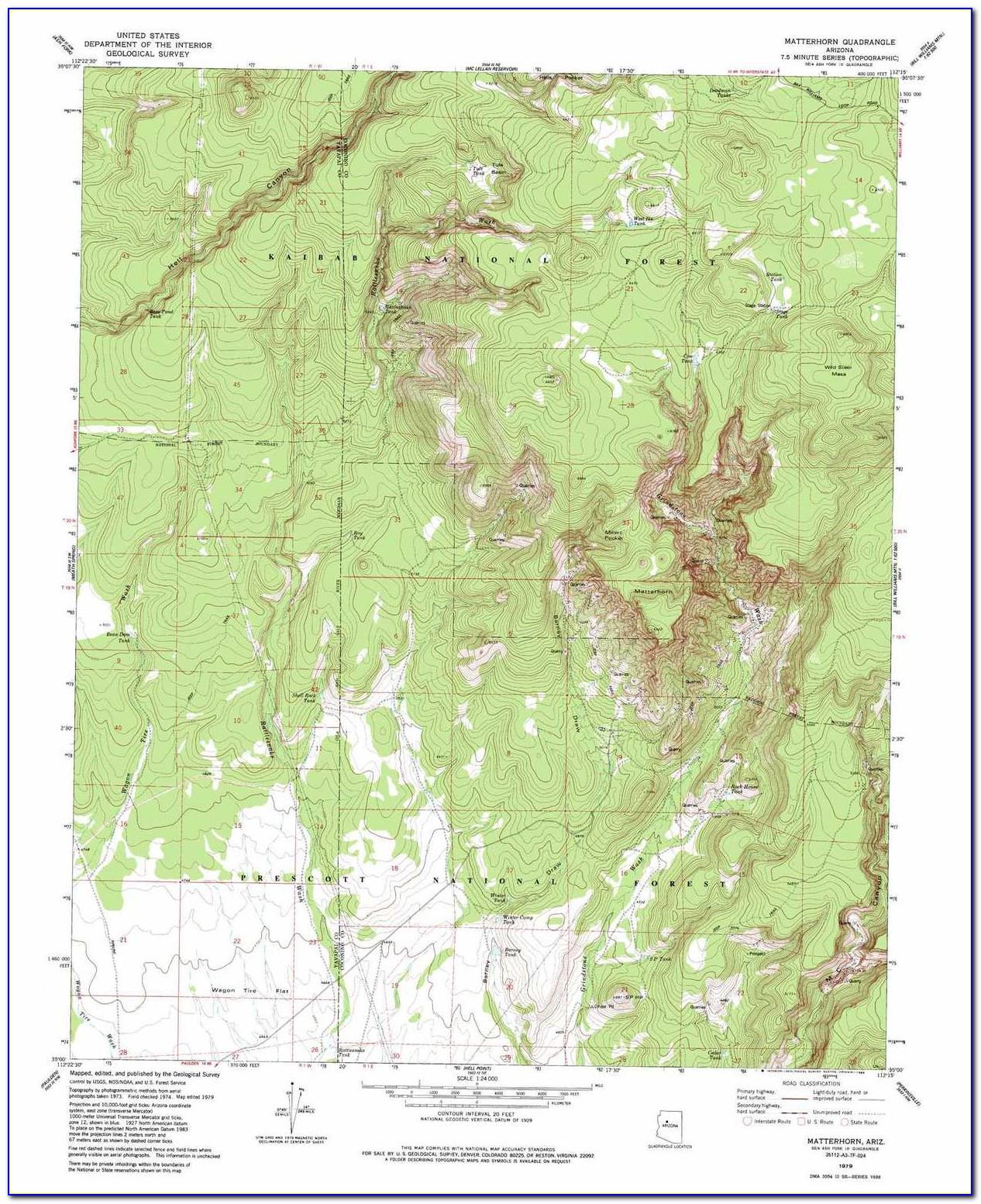 Topographic Map Of Phoenix Arizona