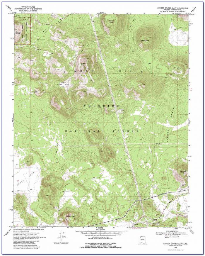 Topographic Map Of Southern Arizona