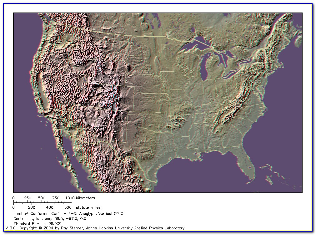 Topographic Map Of Usa Labeled
