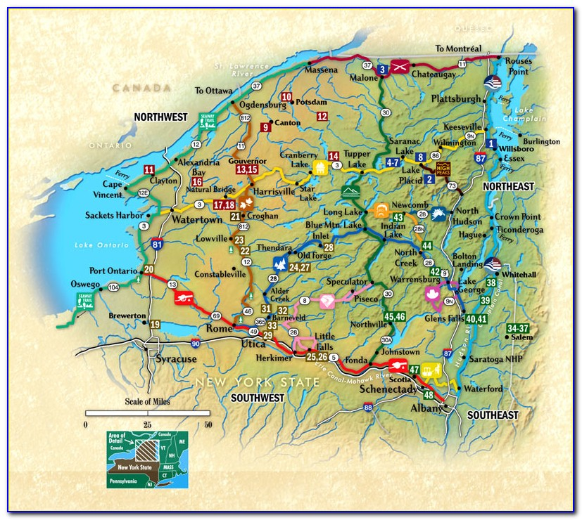 Topographic Maps Of The Adirondacks