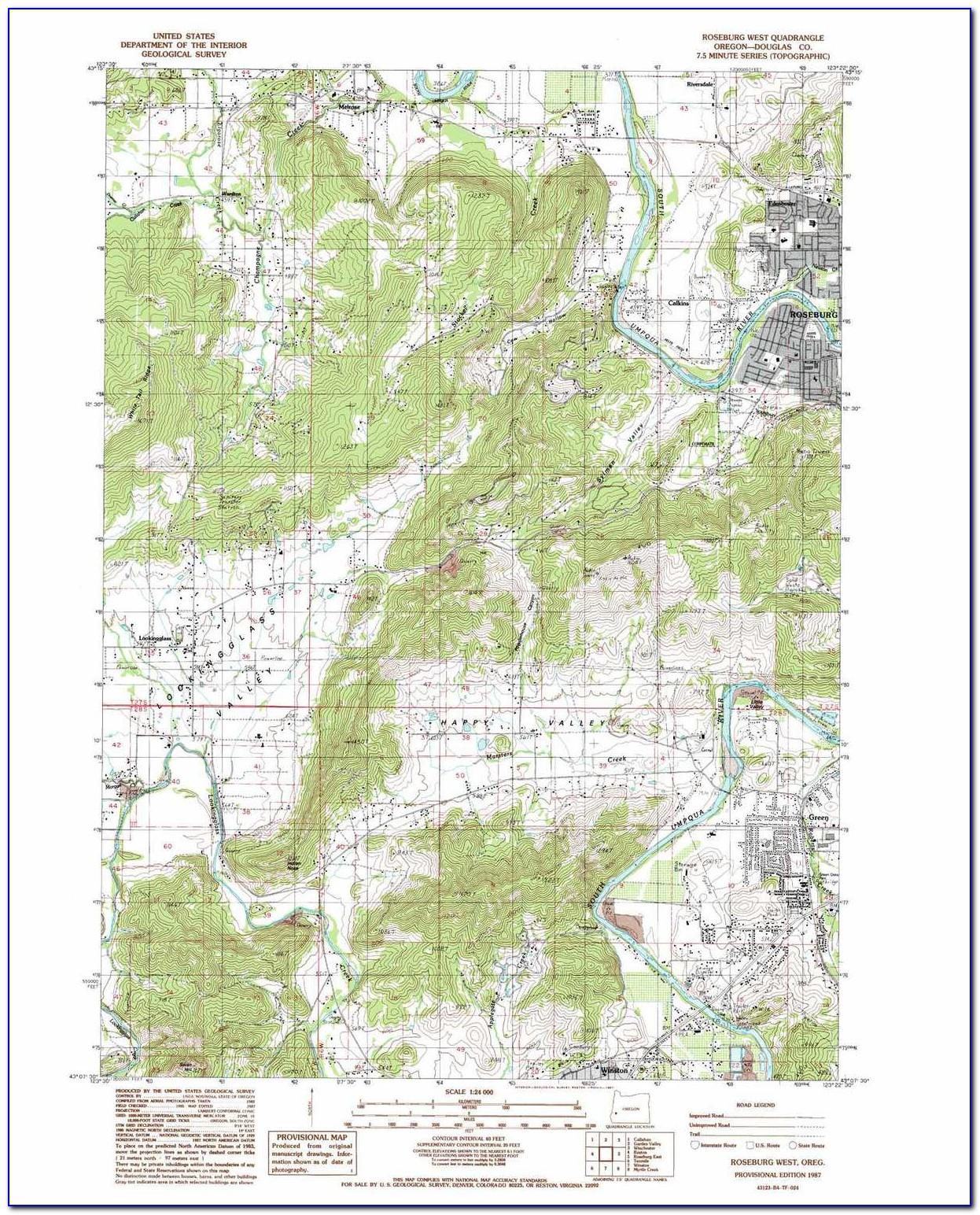 Topographical Map Of Salem Oregon