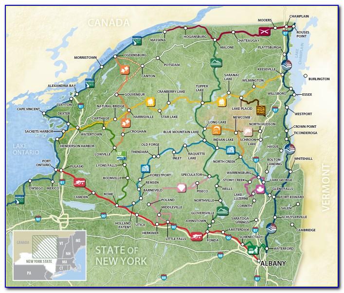 Trail Map Of The Adirondacks